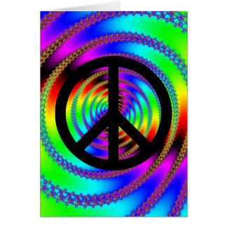 Wurm-Loch mit schwarzem Friedenszeichen Karte