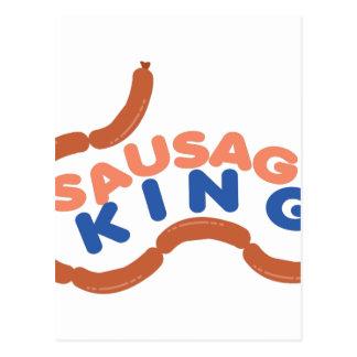 Wurst-König Postkarte