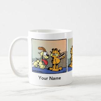 """""""Würstchen des Lebens"""" Garfield-Comic-Streifen Kaffeetasse"""