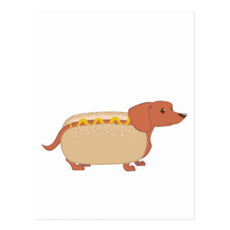 Würstchen-Hund Postkarte