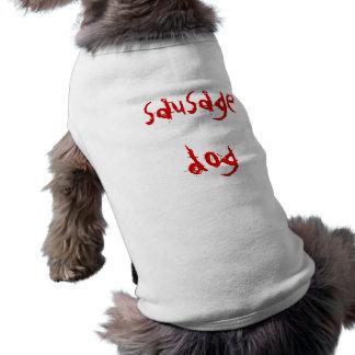 Wursthund Ärmelfreies Hunde-Shirt