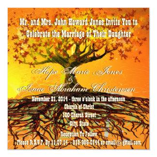 Wurzeln der Liebe-Quadrat-Hochzeits-Einladung Karte