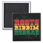 Wurzeln Riddim Reggae Quadratischer Magnet