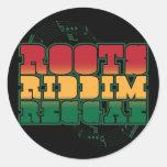 Wurzeln Riddim Reggae Runder Aufkleber