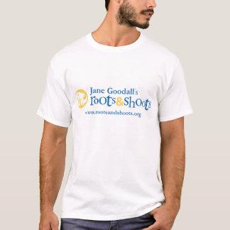 Wurzeln u. Trieb-Damen-Logo-T - Shirt