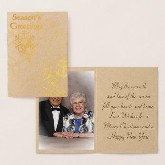 Würzen Sie '' s-Gruß-Goldfolien-Weihnachtskarte Folienkarte