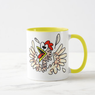 Würzige Huhn-Kaffee-Tasse Tasse