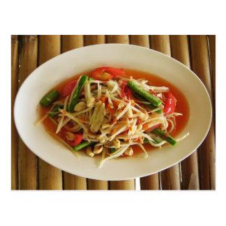 Würziger Papaya-Salat Som Tam Postkarte