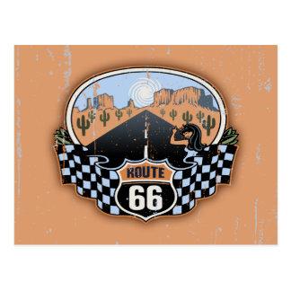 Wüste des Weg-66 Postkarte