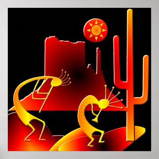 Wüste Kokopelli Poster