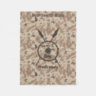 Wüste Maccabee Schild und Stangen Fleecedecke