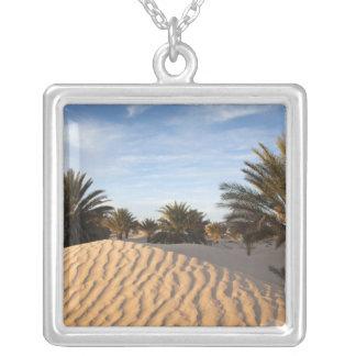 Wüste Tunesiens, Sahara, Douz, große Düne, Palme 2 Versilberte Kette