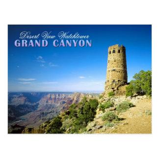 Wüsten-Ansicht-Wachturm, Grand Canyon, AZ Postkarte