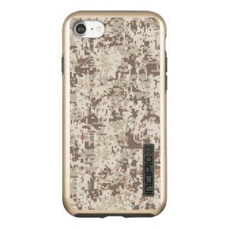 Wüsten-beige Digital-Tarnungs-Dekor auf a Incipio DualPro Shine iPhone 8/7 Hülle