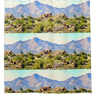 Wüsten-Berge von Arizona-/Nevada-Grenze Duschvorhang