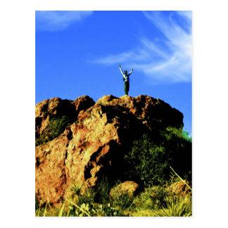 Wüsten-Bergsteiger-Postkarte Postkarte