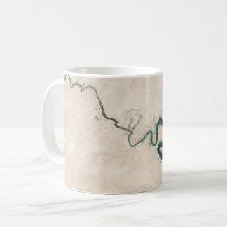 Wüsten-Fluss-Antennen-Sprung Kaffeetasse