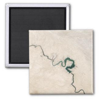 Wüsten-Fluss-Antennen-Sprung Quadratischer Magnet