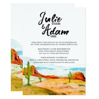 Wüsten-Hochzeits-Einladung Karte