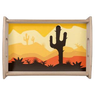 Wüsten-Illustration Serviertablett