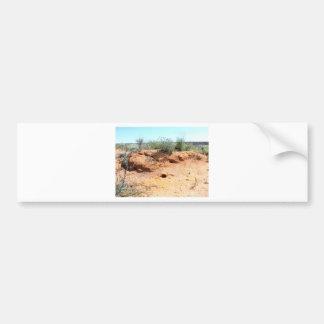 Wüsten-Lebewesen-Wohnungen im roten Sand Autoaufkleber