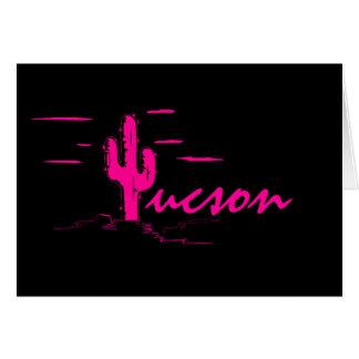 WÜSTEN-Nachtsaguaro-Kaktus Tucsons Arizona Neon Karte
