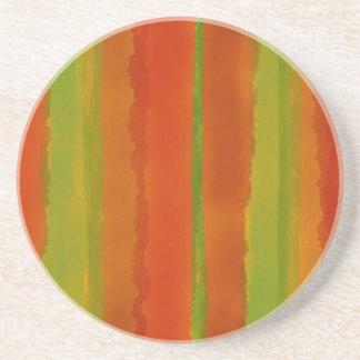 Wüsten-Rosewatercolor-Streifen Untersetzer