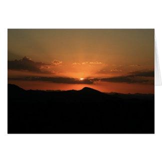 Wüsten-Sonnenuntergang Karte