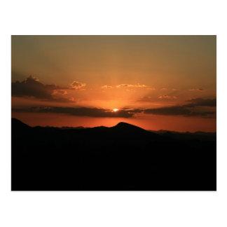 Wüsten-Sonnenuntergang Postkarte