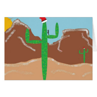 Wüsten-Weihnachten Karte