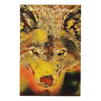 Wüsten-Wolf-Indie Spritzpistolen-Kunst Holzwanddeko