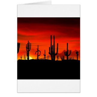 WüstenSaguaros Sonoran Arizona Karte