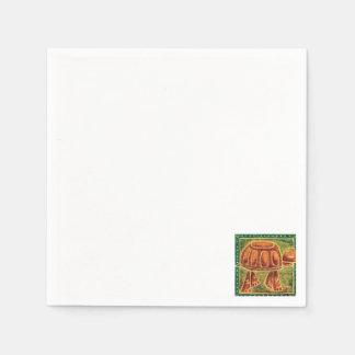 Wüstenschildkröte im Öl-Pastell Papierserviette
