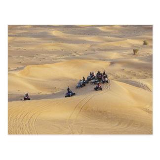 Wüstenviererkabelfahrräder, Dubai Postkarte