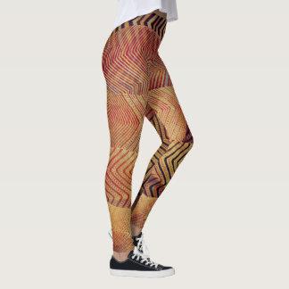 Wüstenzickzackdrucke Leggings