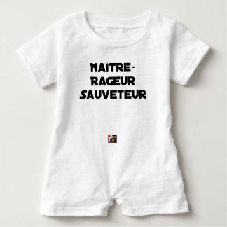 WÜTEND GEBOREN WERDEN RETTER - Wortspiele Baby Strampler