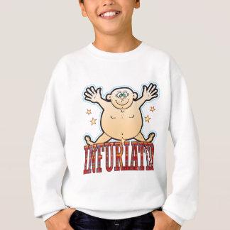 Wütend gemachter fetter Mann Sweatshirt