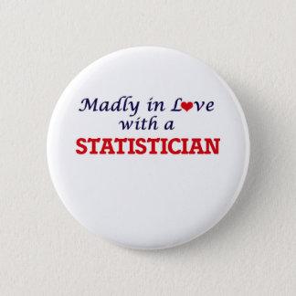 Wütend in der Liebe mit einem Statistiker Runder Button 5,1 Cm