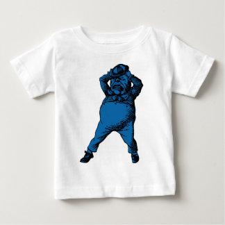 Wütend Tweedle Dee mit Tinte geschwärzte blaue Baby T-shirt