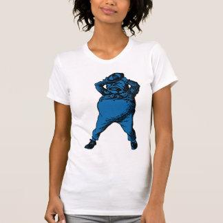 Wütend Tweedle Dee mit Tinte geschwärzte blaue T-Shirt