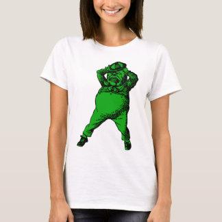 Wütend Tweedle Dee mit Tinte geschwärzte grüne T-Shirt