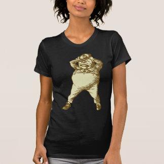 Wütend Tweedle Dee mit Tinte geschwärzten Sepia T-Shirt