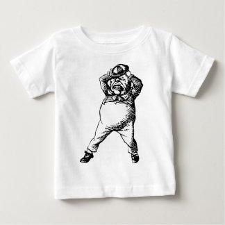 Wütend Tweedle Dee mit Tinte geschwärztes Baby T-shirt