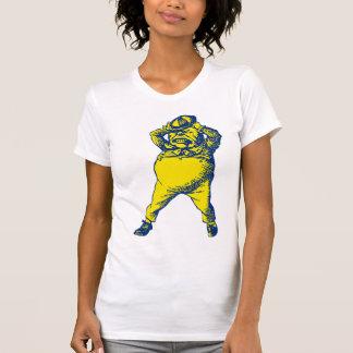 Wütend Tweedle Dee mit Tinte geschwärztes blaues T-Shirt
