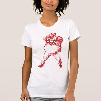 Wütend Tweedle Dee mit Tinte geschwärztes Rot T-Shirt
