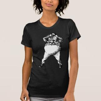 Wütend Tweedle Dee mit Tinte geschwärztes T-Shirt
