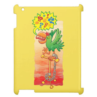 Wütende grüne Papageien-Sprichwortschlechtwörter iPad Hülle