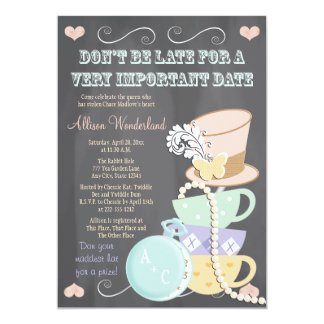 Wütende Hutmacher-Brautparty-Einladungen