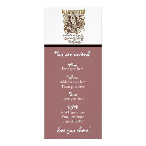 Wütende Hutmacher Carnivale Art (mit Gedicht) Personalisierte Einladungen