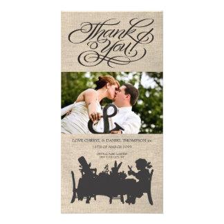 Wütende Hutmacher-Tee-Party-Hochzeit danken Ihnen Individuelle Photo Karte